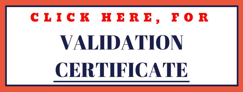 Badan Sertifikasi ISO Validation Certificate